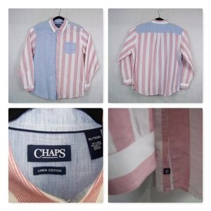 Chaps Men's Casual Shirt Size XL Striped NWOT